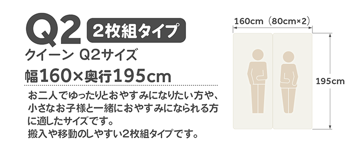 クイーンQ2サイズ